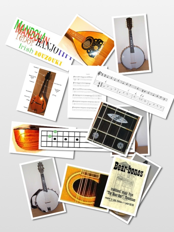The Mandolin Pages Home Page Montage Picture (Click Map)
